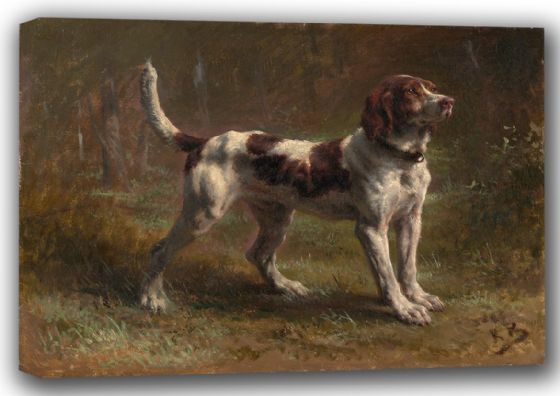 Bonheur, Rosa: A Limier Briquet Hound. Fine Art Canvas. Sizes: A4/A3/A2/A1 (001598)
